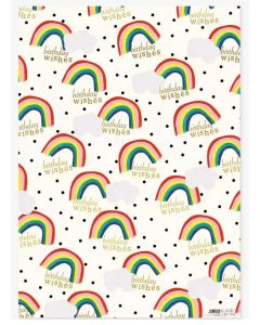 Folded Wrapping Paper - Rainbow Wishes