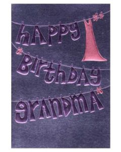"""Happy Birthday Grandma"" Greeting Card"