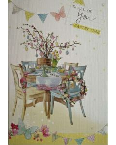 Easter card - Easter table & chairs