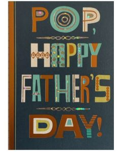 Pop Father's Day - Foil wording on navy blue