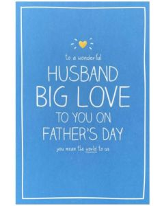 Husband Father's Day - 'BIG LOVE' on blue
