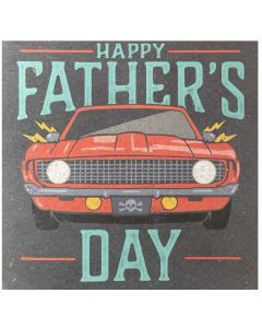 Father's Day - Red Car sound card