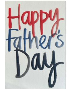 Father's Day Card - Embossed Script