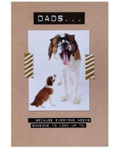 Father's Day - Puppy & dog in glasses