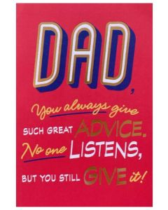 Father's Day Card - Great Advice