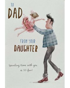 Father's Day - From Daughter - Lifting ballerina