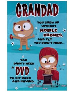 Grandad Father's Day - Without mobile phones...