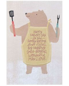 One I Love Father's Day - Bear in apron