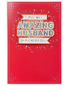 Husband Father's Day - Stars on red