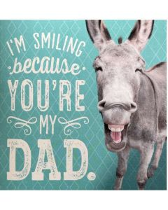 Father's Day - Smiling donkey sound card