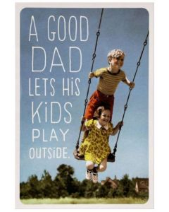 Father's Day Card - Kids on Swing