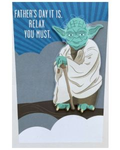 Father's Day Card - Relax You Must (Yoda)