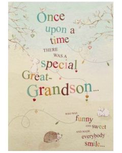 GREAT-GRANDSON Card - Once Upon a Time