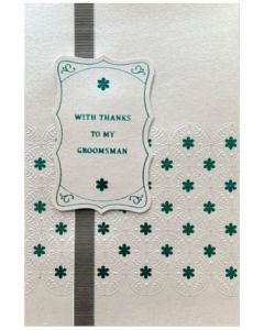 Groomsman Thank you - Blue foil & embossed circles