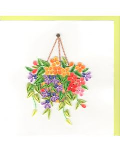 Quilling Card - Hanging Basket