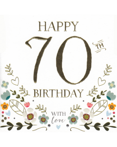 'Happy 70th Birthday' Card