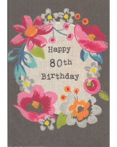 'Happy 80th Birthday' Card