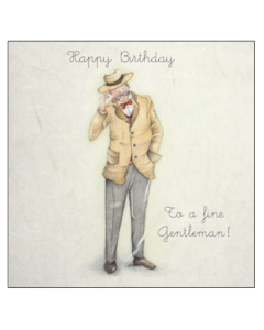'Happy Birthday to a Fine Gentleman!' Card