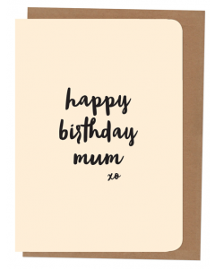 'Happy Birthday Mum' Card