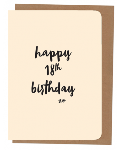 'Happy 18th Birthday' Card