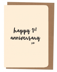 'Happy 1st Anniversary' Card