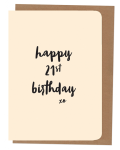 'Happy 21st Birthday' Card