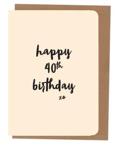 'Happy 40th Birthday' Card