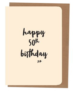 'Happy 50th Birthday' Card