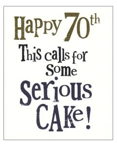 'Happy 70th' Card