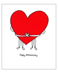 ANNIVERSARY Card - Big Heart