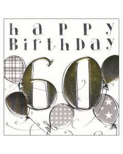 'Happy Birthday 60' Card