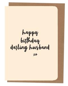 'Happy Birthday Darling Husband' Card