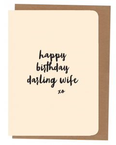 'Happy Birthday Darling Wife' Card