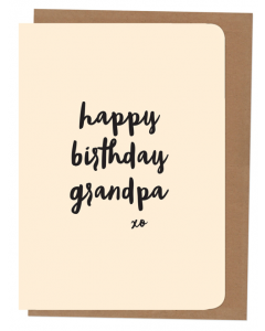 'Happy Birthday Grandpa' Card