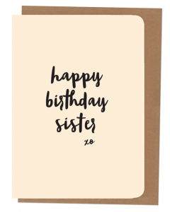 'Happy Birthday Sister' Card