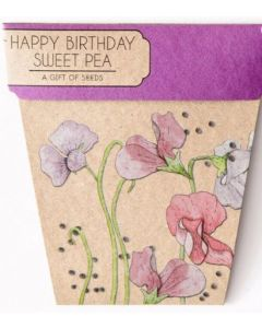 Happy Birthday Sweet Pea - Card & gift of seeds