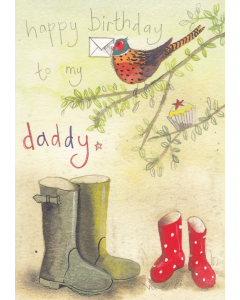 'Happy Birthday to My Daddy' Card