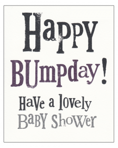 'Happy Bumpday!' Card