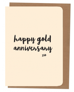 'Happy Gold Anniversary' Card