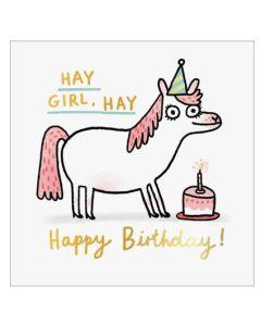 Birthday Card - 'Hay Girl, Hay'