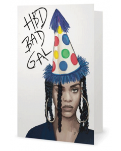 'HBD Bad Gal' Card