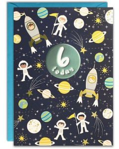 AGE 6 Card - Outer Space