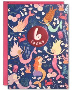 AGE 6 Card - Mermaids