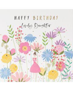 DAUGHTER Card - Embossed Flowers