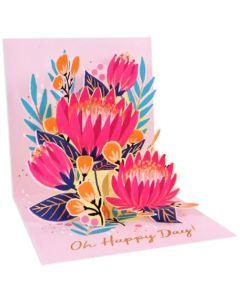 3D Pop-Up Card - Protea