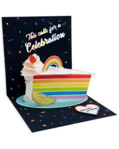 3D Pop-Up Card - Rainbow Cake