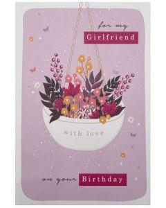 Girlfriend - Flowers in white hanging pot