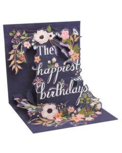 3D Pop-Up Card - Birthday Wreath