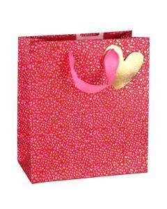 Gift Bag (Medium) - Pink & Gold Hearts