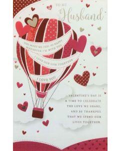 Valentine Card - To My HUSBAND (Hot Air Balloon)